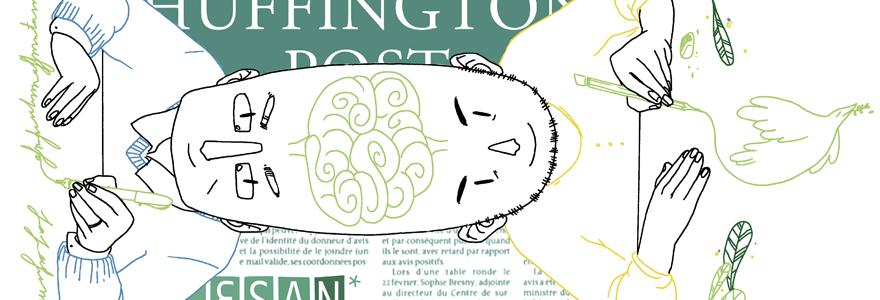 Pour Angoulême, les étudiants du CESAN illustrent le Huffington Post